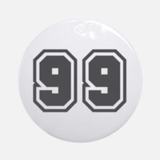 Number 99 Ornament (Round)