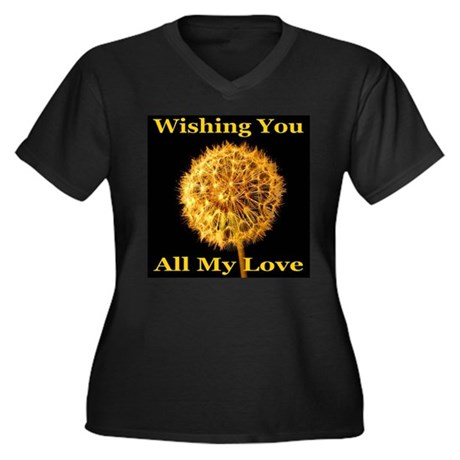 Wishing You All My Love Women's Plus Size V-Neck D