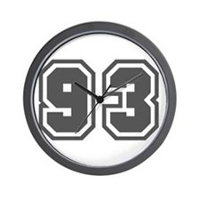 Number 93 Wall Clock