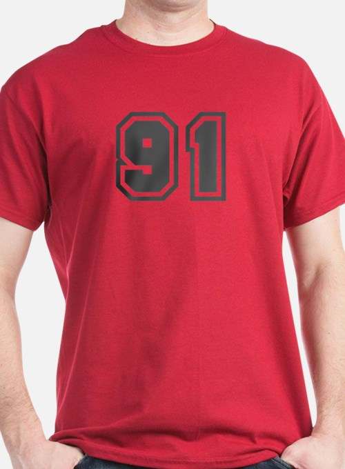 Number 91 T-Shirt