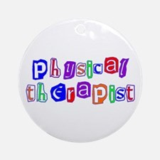 Physical Therapist Colors Ornament (Round)