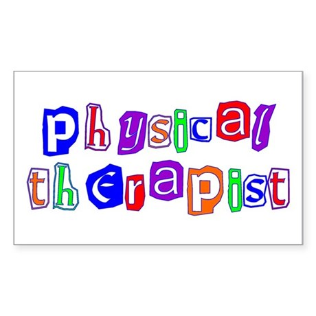 Physical Therapist Colors Rectangle Sticker