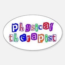 Physical Therapist Colors Oval Decal