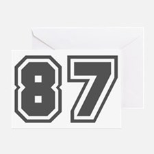 Number 87 Greeting Card