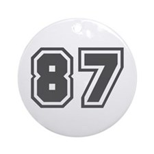 Number 87 Ornament (Round)