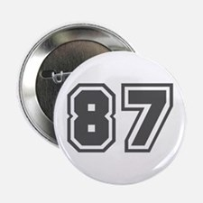 """Number 87 2.25"""" Button"""