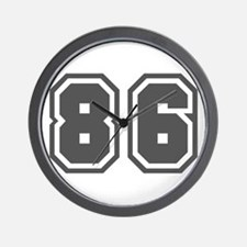Number 86 Wall Clock