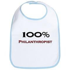100 Percent Philanthropist Bib