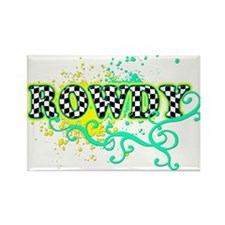 Rowdy 1 Rectangle Magnet