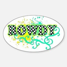 Rowdy 1 Oval Decal