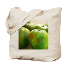 Original artwork green apples-Tote Bag