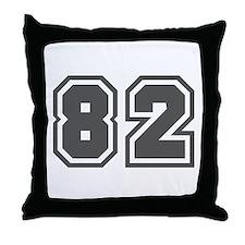 Number 82 Throw Pillow