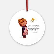 O God Guide Me Ornament (Round)