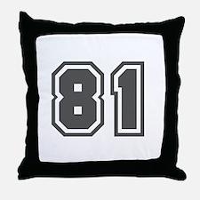 Number 81 Throw Pillow