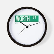 Worth Street in NY Wall Clock