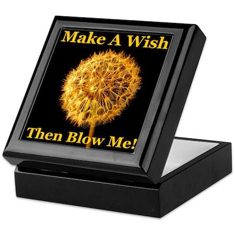 Make A Wish Then Blow Me! Keepsake Box