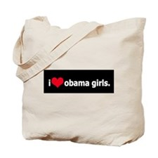I *heart* obama girls Tote Bag