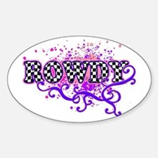 Rowdy 2 Oval Decal