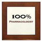 100 Percent Pharmacologist Framed Tile