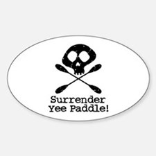Kayaking Pirate Oval Bumper Stickers