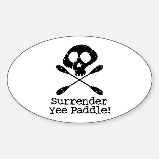 Kayaking Pirate Oval Decal
