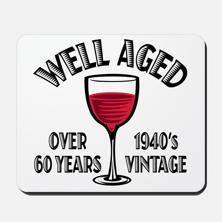 Over 60th Birthday Mousepad