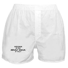 Vegan Deadly Ninja by Night Boxer Shorts