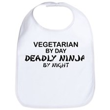 Vegetarian Deadly Ninja by Night Bib