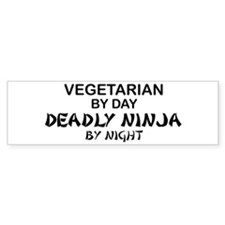 Vegetarian Deadly Ninja by Night Bumper Car Sticker
