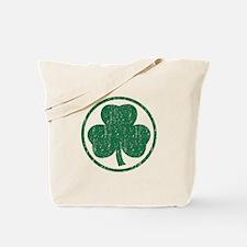 Vintage Green Shamrock Tote Bag