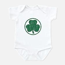 Vintage Green Shamrock Infant Bodysuit