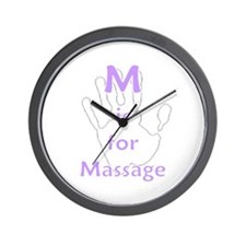 M is for Massage Wall Clock