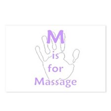 M is for Massage Postcards (Package of 8)