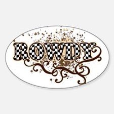 Rowdy 4 Oval Decal