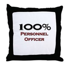 100 Percent Personnel Officer Throw Pillow