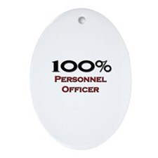 100 Percent Personnel Officer Oval Ornament