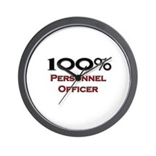 100 Percent Personnel Officer Wall Clock