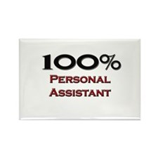 100 Percent Personal Assistant Rectangle Magnet