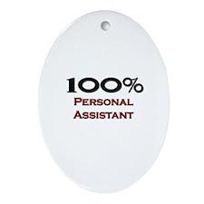100 Percent Personal Assistant Oval Ornament