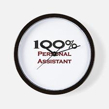 100 Percent Personal Assistant Wall Clock