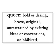 queer Rectangle Decal