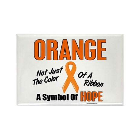 ORANGE Not Just A Color 3 Rectangle Magnet (10 pac