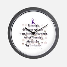 Fibro Discriminates.. Wall Clock