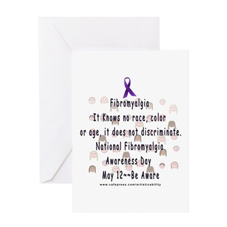 Fibro Discriminates.. Greeting Card
