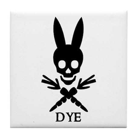 DYE (black) Tile Coaster
