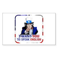 Patriotic Speak English Uncle Sam Decal