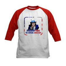 Patriotic Speak English Uncle Sam Tee
