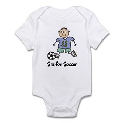 S is for Soccer Infant Bodysuit