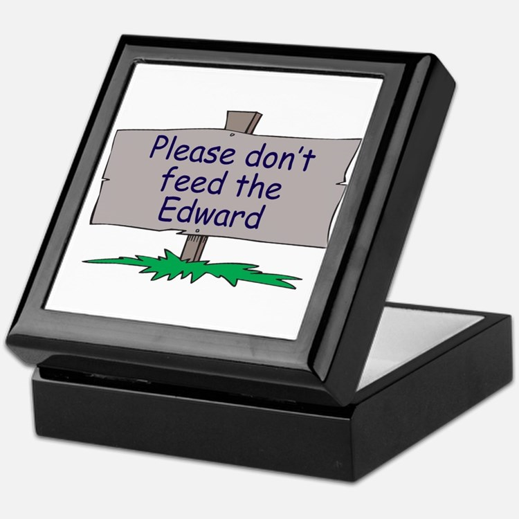 Please don't feed the Edward Keepsake Box
