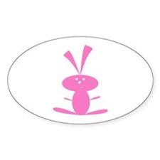 PINK BUNNY Oval Decal